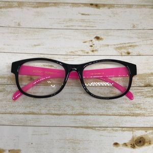 Betsey Johnson Hit Pink:Black Reading Glasses 1.50